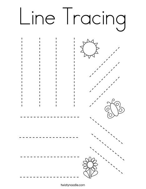 Line Tracing Coloring Page - Twisty Noodle | Tracing ...