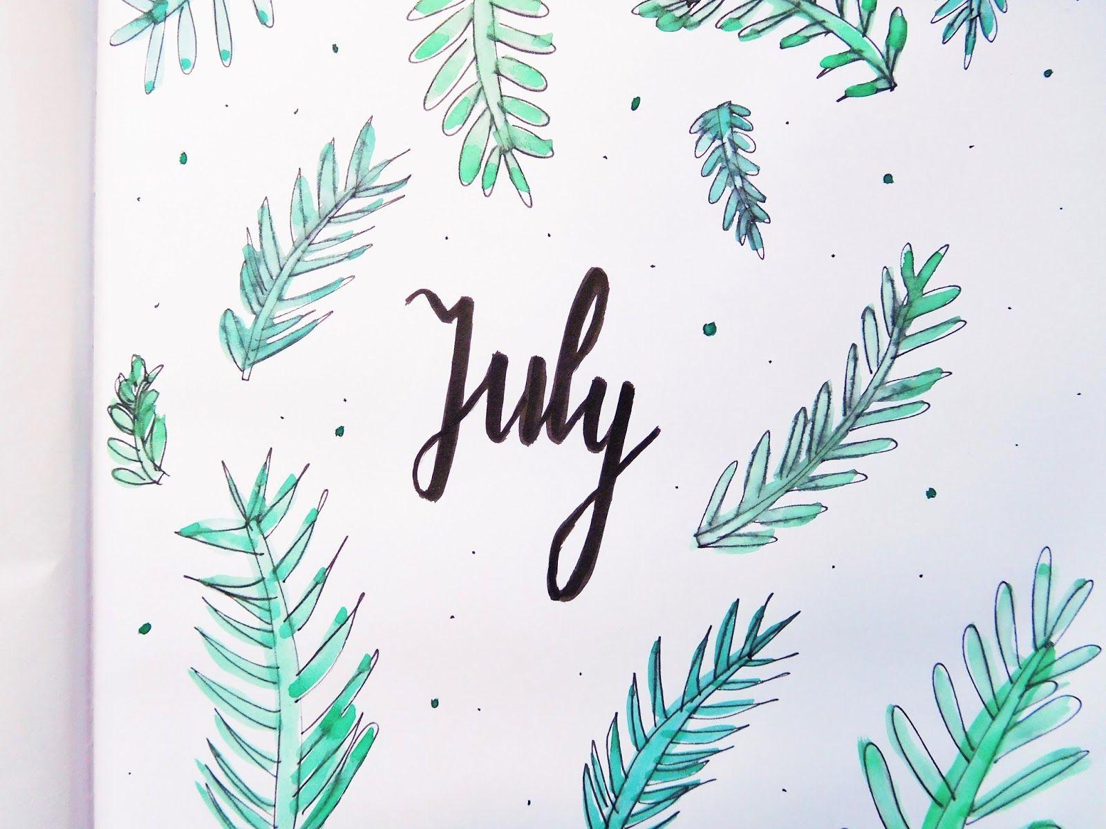 Bullet journal: setup van de maand juli | The DIY Life ...