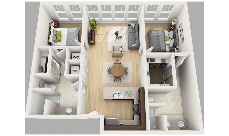 2 Apartments And Condos Loft House Design Floor Plan Design Modern House Design