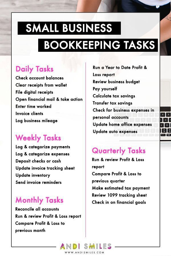 Have you been blowing off your small business bookkeeping Check out this list of small business bookkeeping tasks and get your accounting organized Click through to get a...