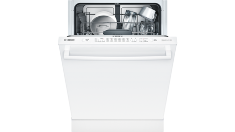 Bosch Ascenta Series Puredry 50 Decibel Top Control 24 In Built In Dishwasher White Energy Star Lowes Com Dishwasher White Steel Tub Built In Dishwasher