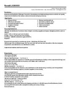 Retail Resume Examples Transportation And Distribution Resumes
