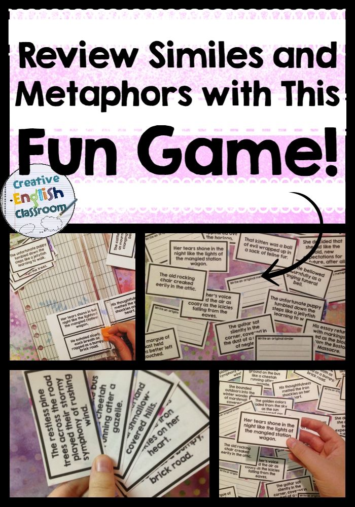 Fraction Word Problems 3rd Grade Worksheets Free Excel Simile Vs Metaphor Game  Fun Team Games Simile And Gaming Esl Sequencing Worksheets Word with Animals And Their Habitats For Kids Worksheets Never Forget The Difference Between A Simile And Metaphor Again With This  Fun Team Game For Math Worksheets For Middle School Students Word