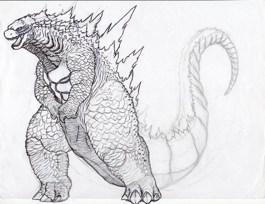 Godzilla 2014 Coloring Pages Sketch Coloring Page Godzilla Godzilla Funny Original Godzilla