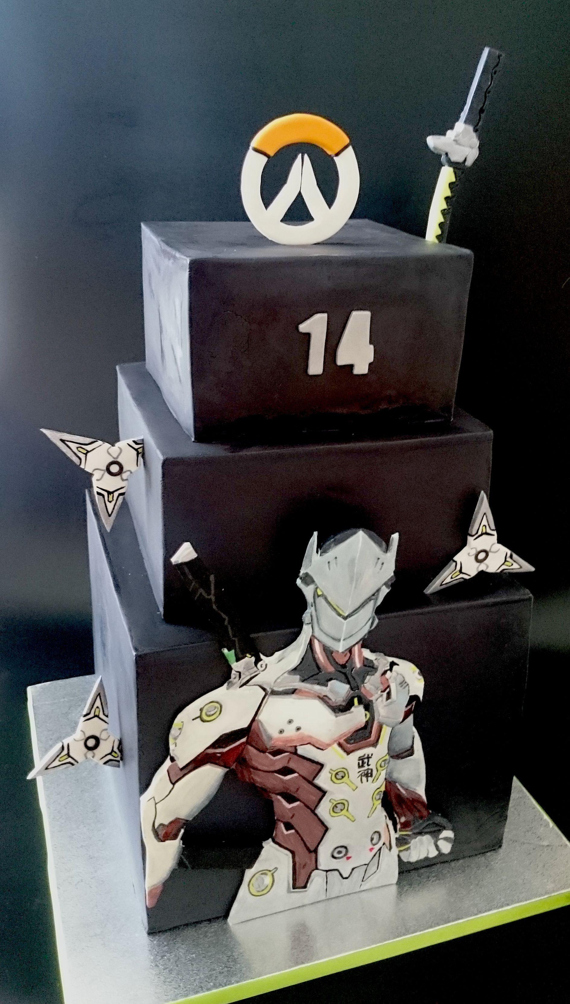 Overwatch Cake Genji Gamer Cake En 2019 Overwatch Cake