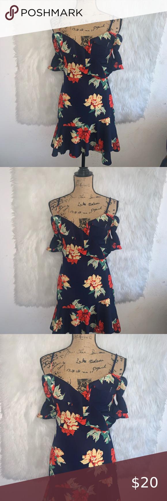 Floral Print Off Shoulder Dress Size Small Cute Summer Dresses Off Shoulder Dress Off Shoulder [ 1740 x 580 Pixel ]