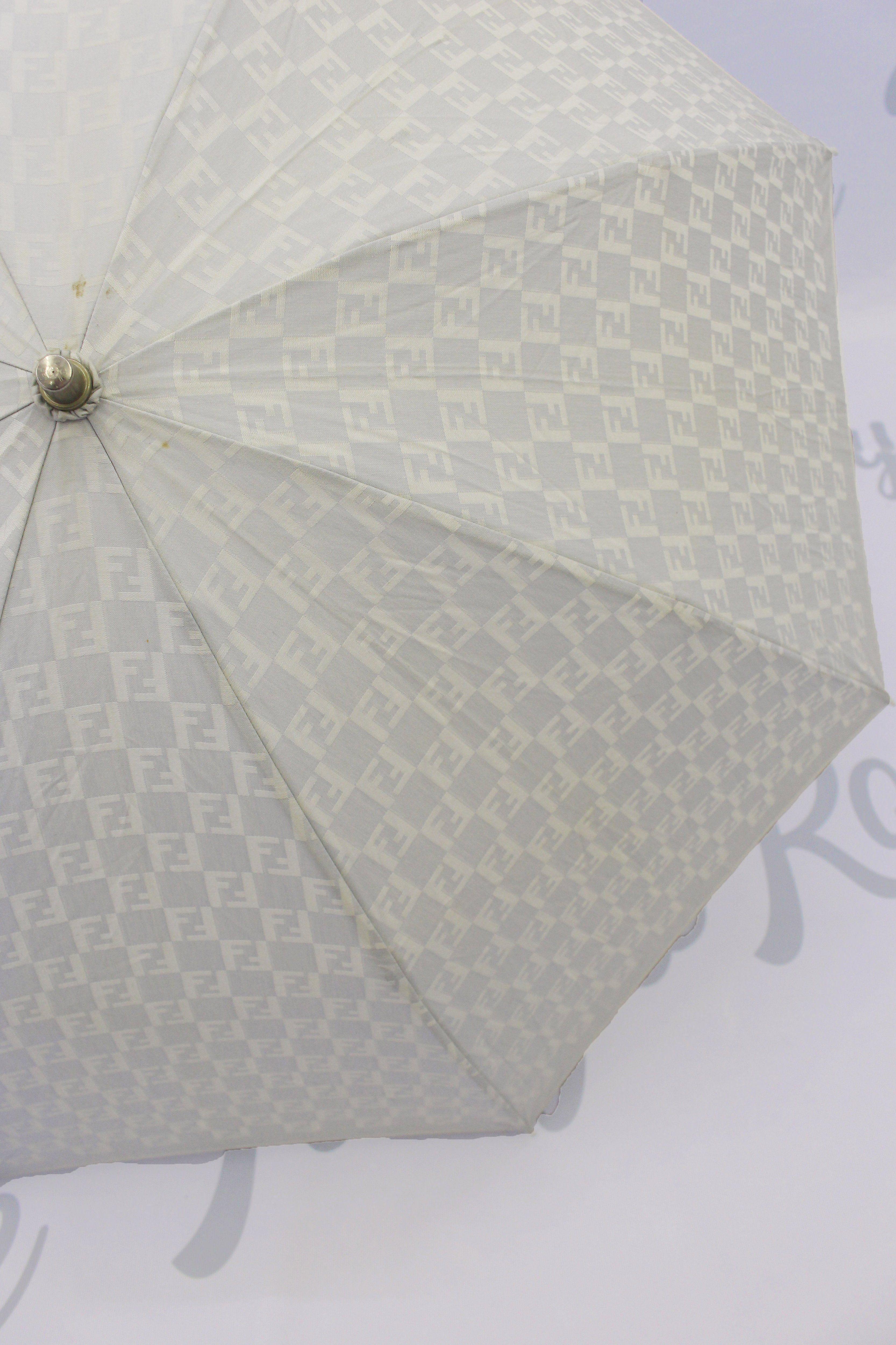 Vintage Fendi Ff Zucca Logo Print Umbrella Tokyo Roses Vintage In 2020 Print Umbrella Fendi Umbrella