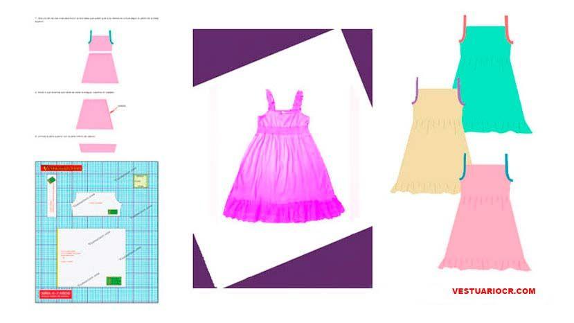 2476e3bfa Moldes de costura para ropa de niña | Patrones ropa infantil descarga gratis