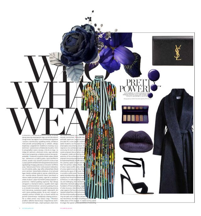 """""""Who? What? Wear?"""" by de-styler on Polyvore featuring Oris, Who What Wear, Mary Katrantzou, Cacharel, Topshop, Gianvito Rossi, Yves Saint Laurent and By Terry"""