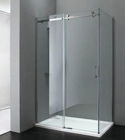Douchecabine 80x110 120 Vaste Wand Met Schuifdeur Own Bathroom