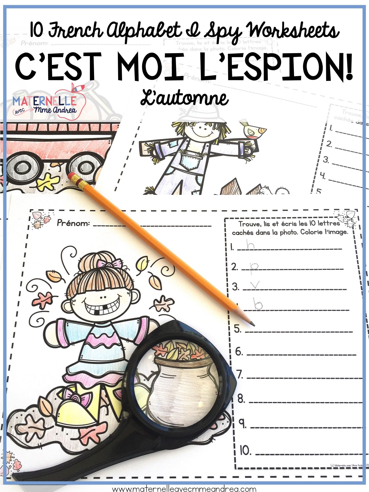 French Autumn Fall Alphabet Reading Amp Writing Practice