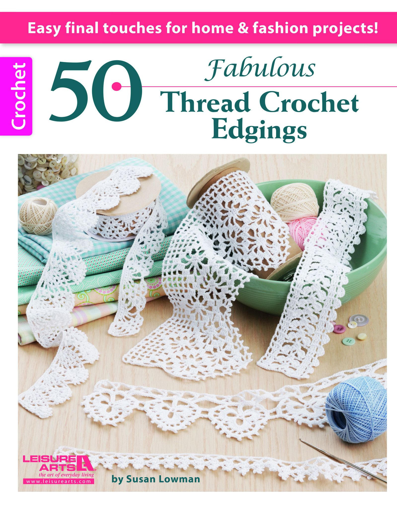 50 Fabulous Thread Crochet Edgings - A lace edging is really fun and ...