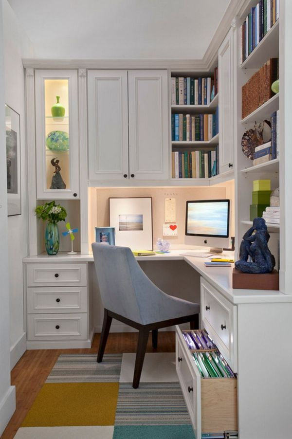 Efficient and Stylish Small Home Offices Small office spaces
