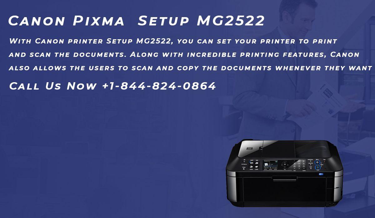 Canon Pixma Setup MG2522 in 2020 Canon, Setup, Printer