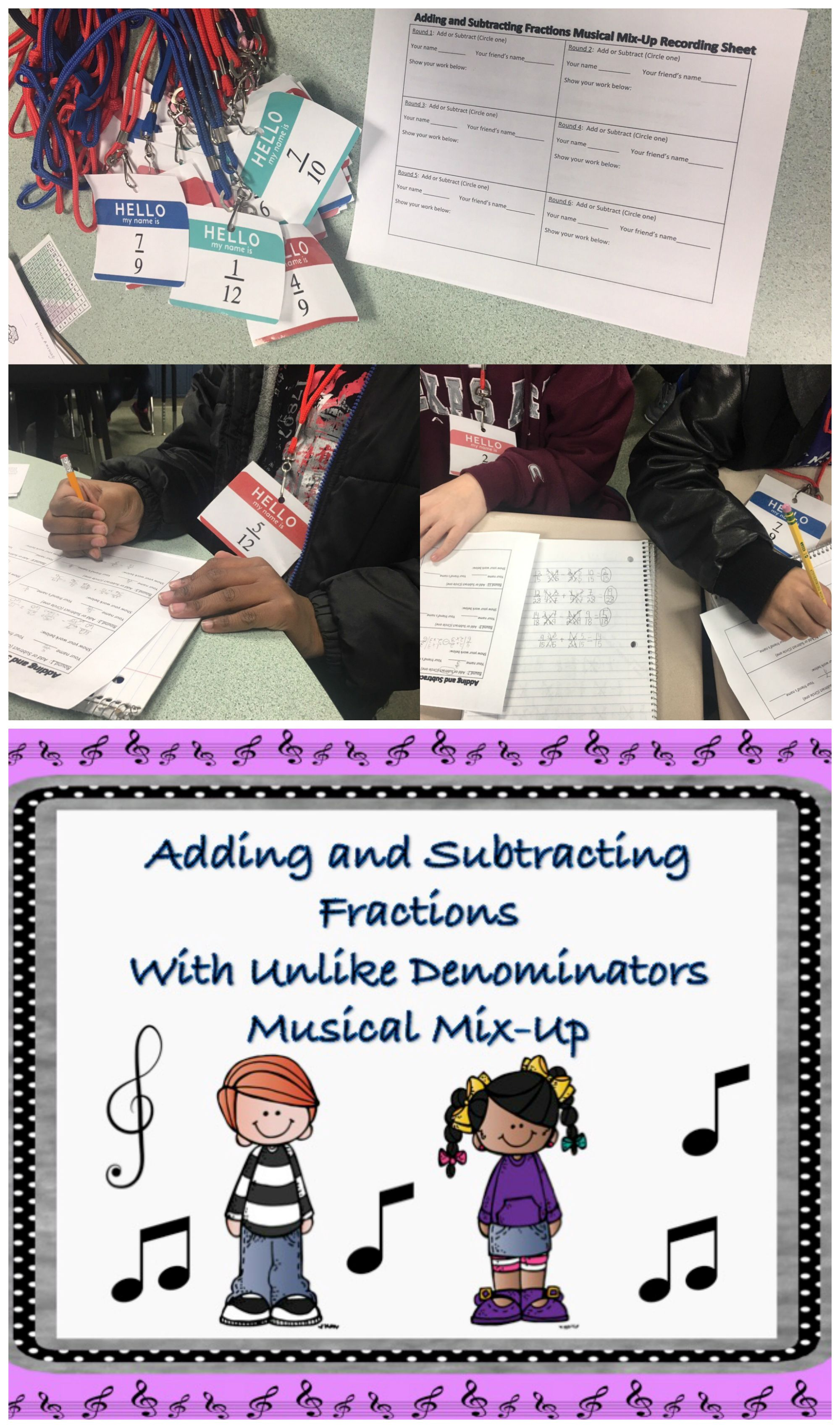 Adding And Subtracting Fractions Unlike Denominators