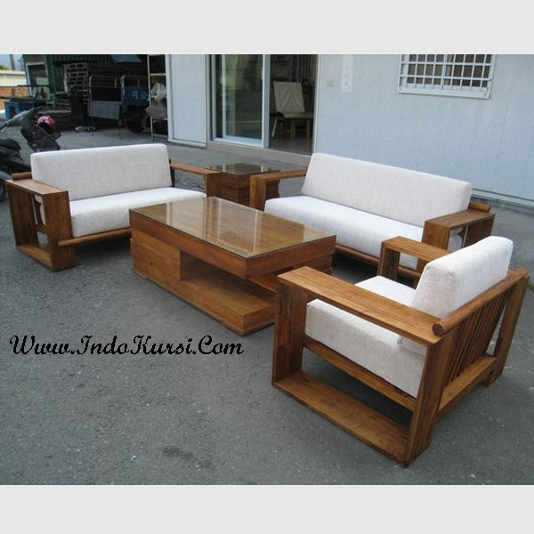 Kursi Tamu Minimalis Ik 014 Kursi Wood Furniture Wooden Sofa