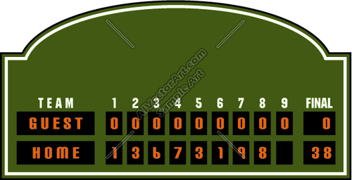 baseball scoreboard template google search