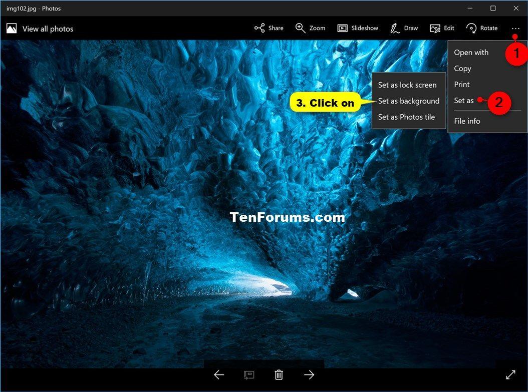 Change Desktop Background In Windows 10 Windows 10 Customization Photo Tiles Wallpaper Windows 10 Windows 10