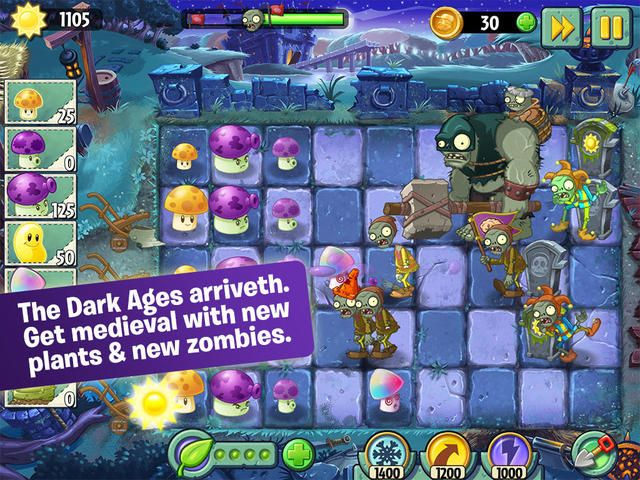 Plants Vs Zombies 2 Gets Dark Ages Part 2 Update Plants Vs