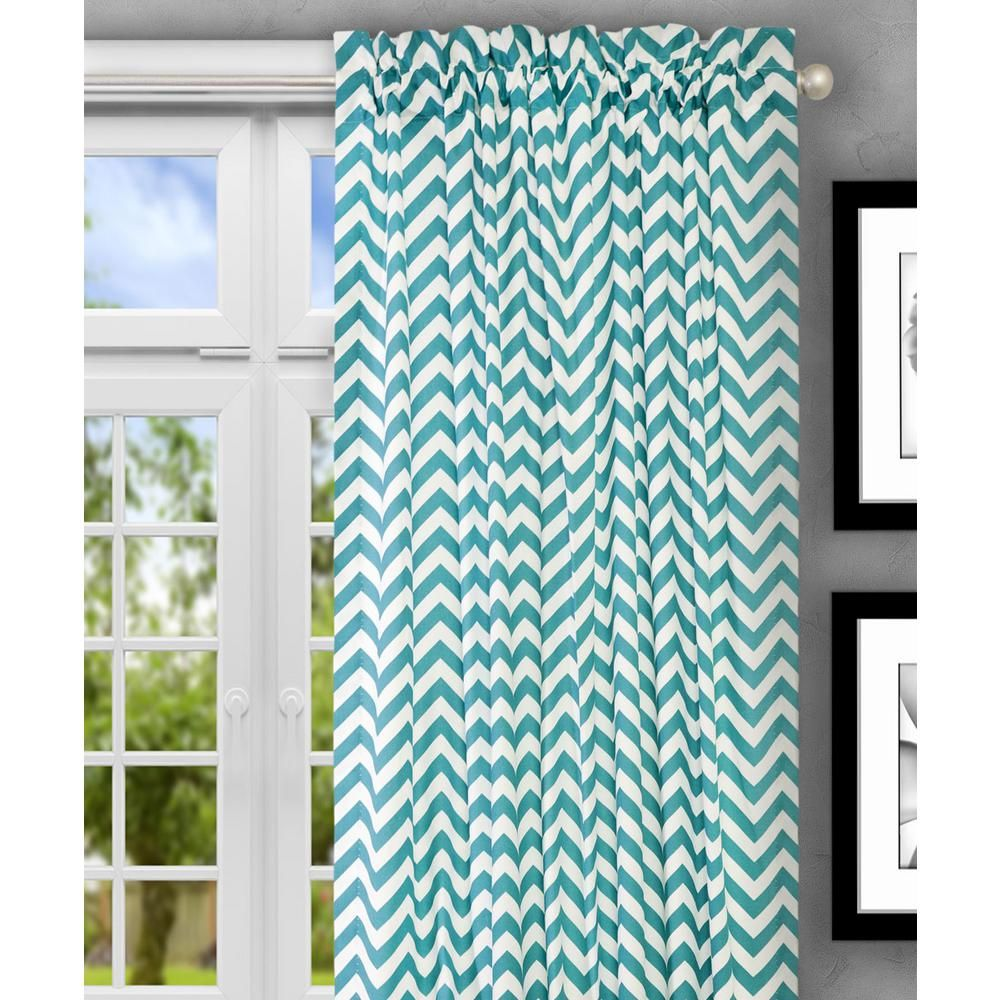 Reston 50 In W X 63 In L Cotton Tailored Curtain Panel In Black 730462114945 The Home Depot Tailored Curtain Panel Curtains Curtains