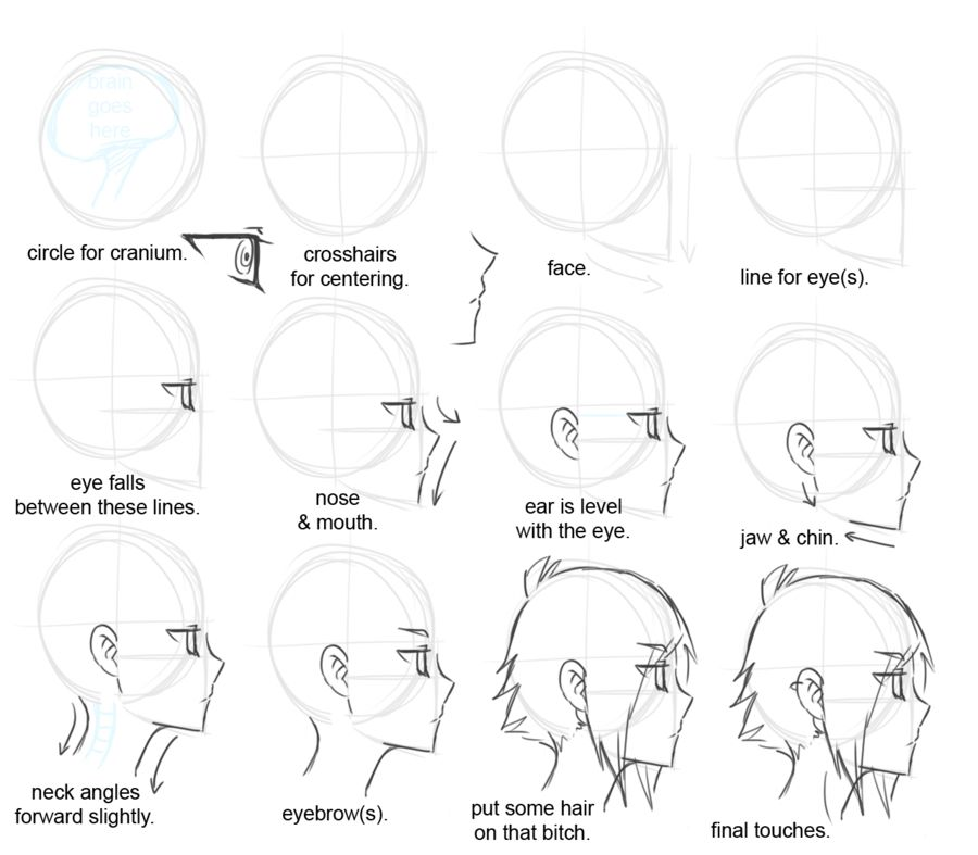 Side View Drawing Tutorial Drawing Tips Anime Tutorial