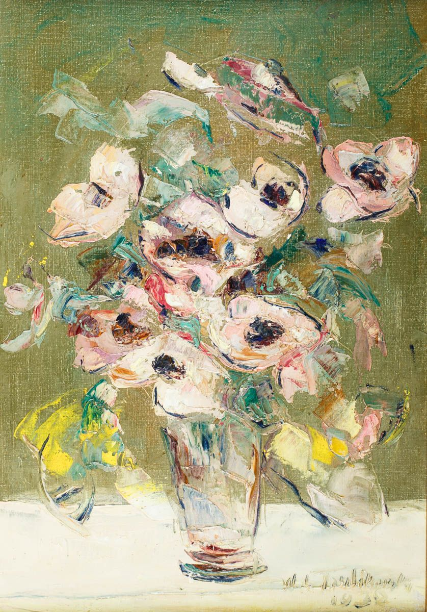 Anémones Wlodzimierz Terlikowski 1938 Peinture 2 Suite