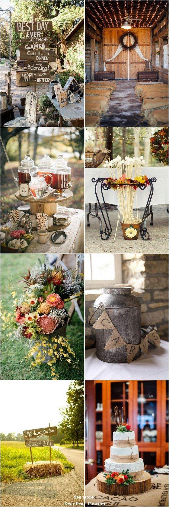 30 fall u0026 country rustic wedding theme ideas u2026 rustic wedding