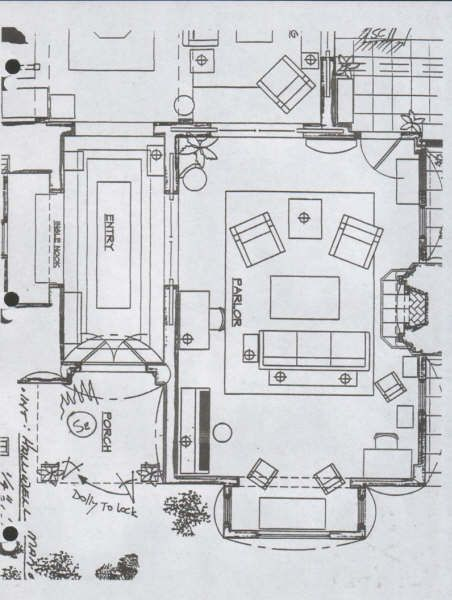 Casa halliwell plano planta baja 1 charmed quinta for Charmed house blueprints