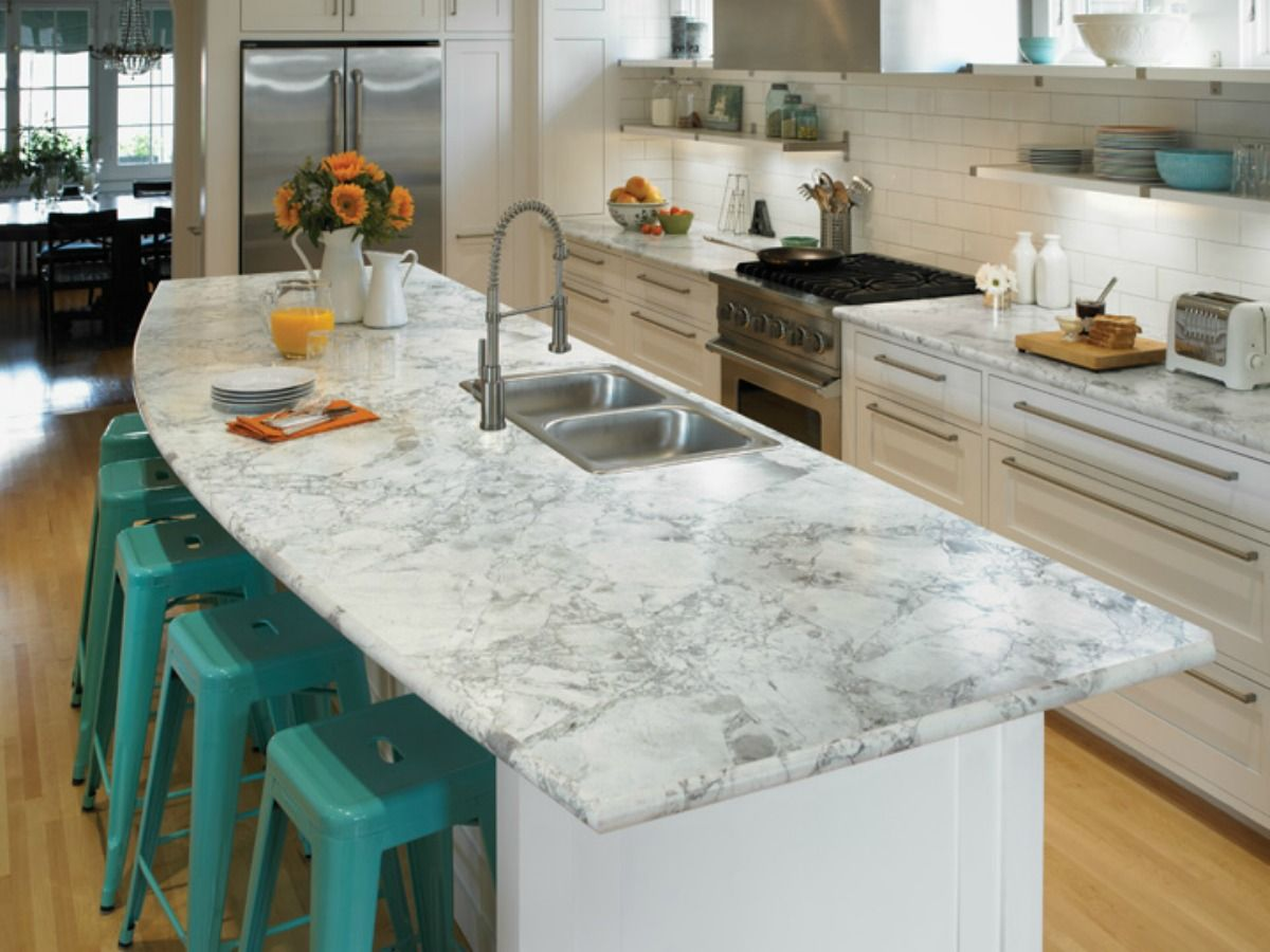 Pair this light colored granite with a splash of color by adding ...