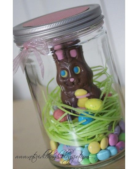 Ddg Daily Making Life More Gorgeous Easter Mason Jars Easter Candy Gifts Chocolate Easter Bunny