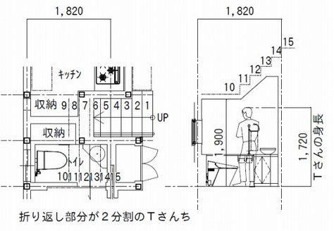 階段下トイレ で圧迫感なく使える高さを知りたい 階段下