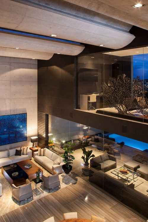 CH House ~ living room by GLR Arquitectos. | Modern Design ...
