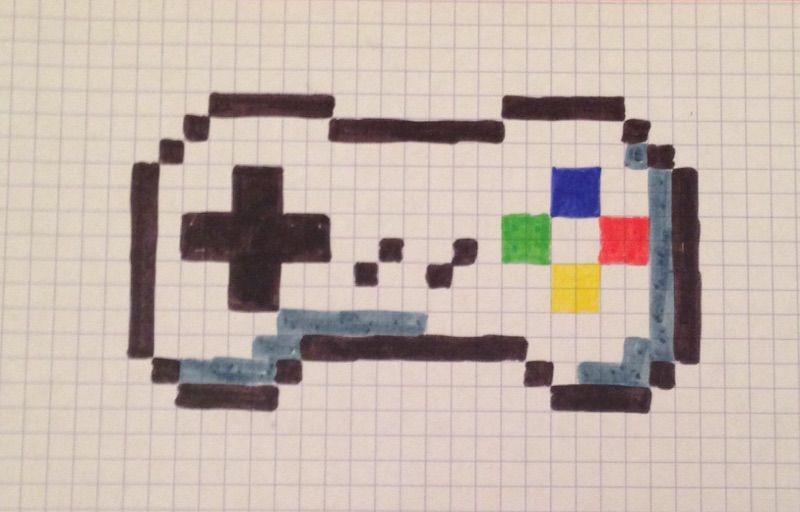 Pixel Art Console De Jeu Pixel Art Art Et Pixel