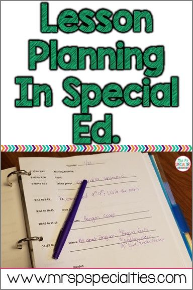 Lesson Planning In Special Education  Special Education Met And Easy