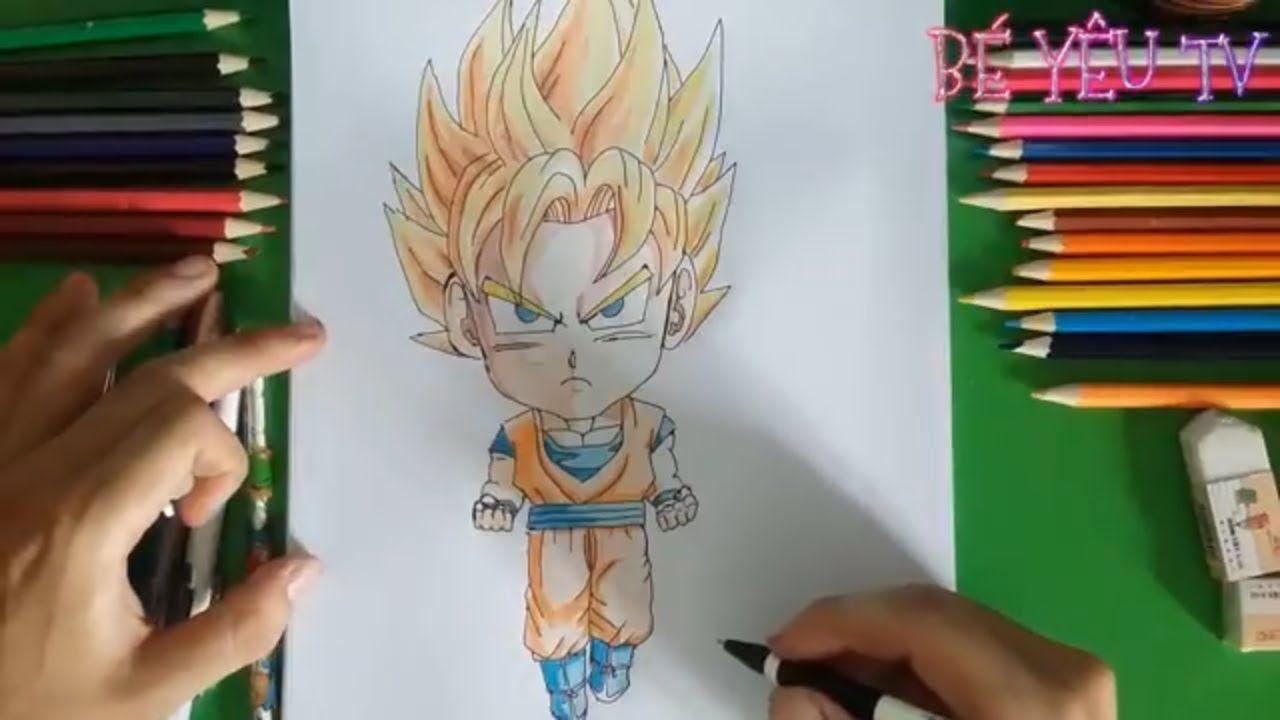cách vẽ tranh 3d-chibi-goku-7 viên ngọc rồng-dragonball-