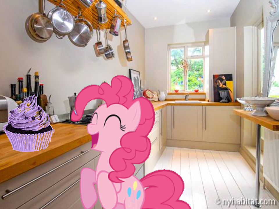 Pinky Pie Eating A Cupcak London Kitchen Kitchen House Prices