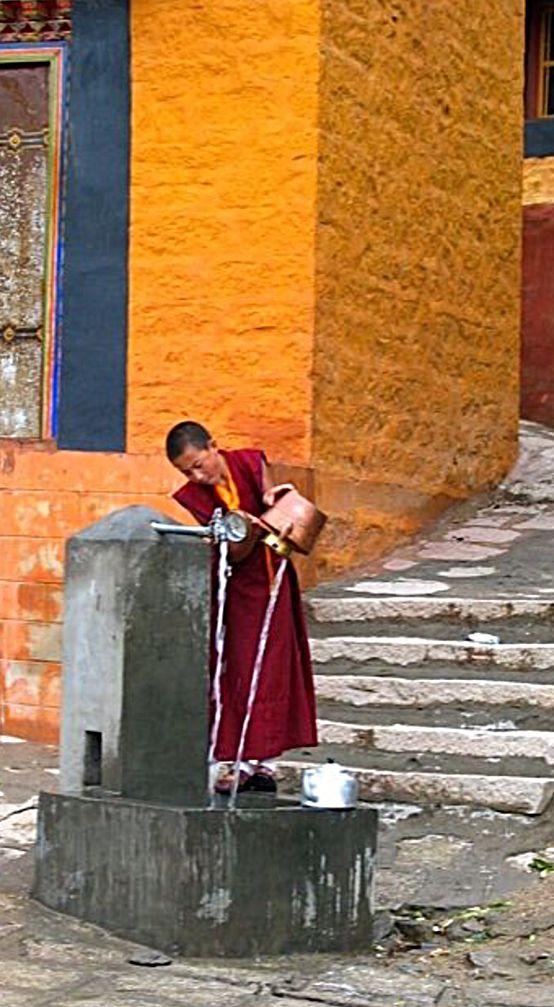 Water for tea . Tibet