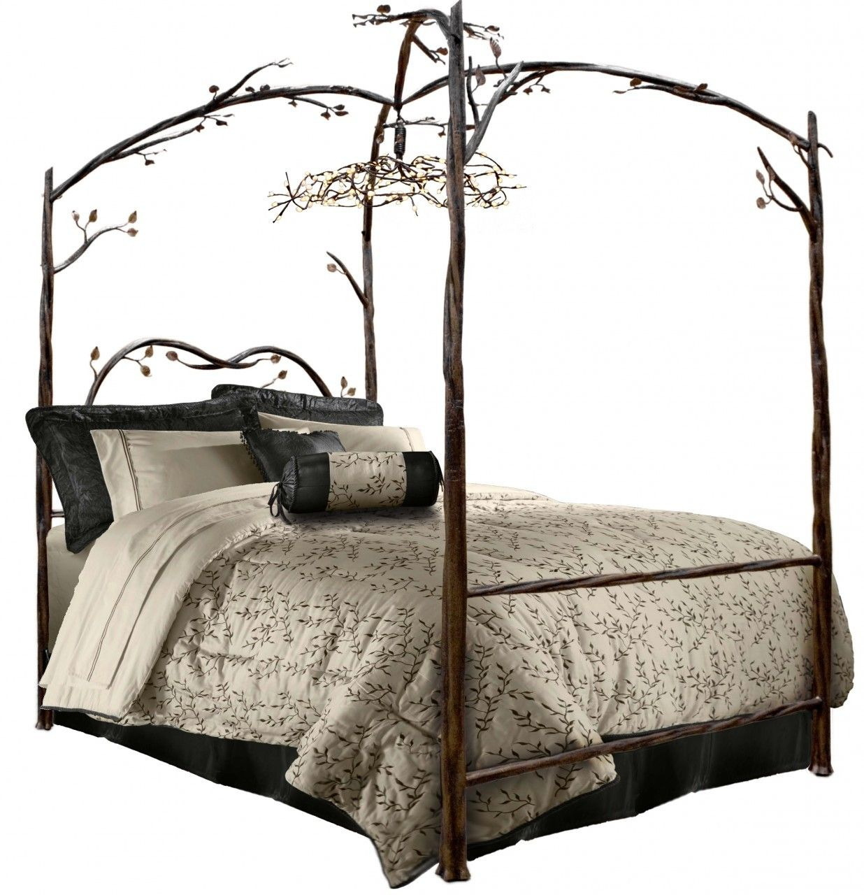 Enchanted Forest Canopy Bed Stone
