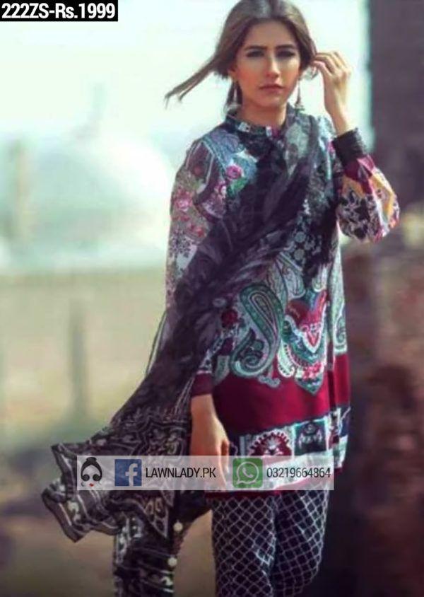 Zara Shahjahan Replica Lawn 2016 3pcs Suit 222zs Price Rs 1999 Indian Fashion Zara Fashion
