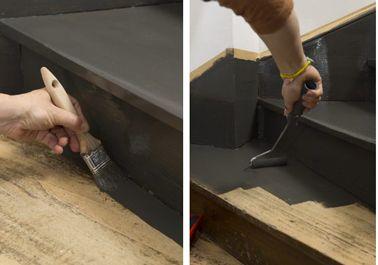 Peindre un escalier en bois avec la peinture r novation v33 escaliers en bois couches et for Quelle peinture pour peindre un escalier en bois