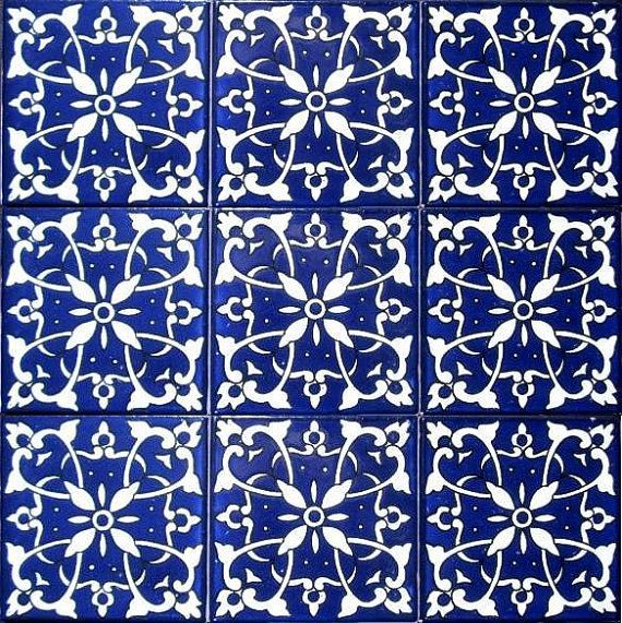 Decorative Ceramic Tiles Accent Mosaic Hand Painted Wall