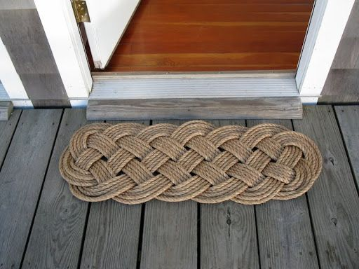 Help mom keep muddy shoes and grass clippings outdoors! This serviceable but beautiful hand-tied doormat by Mystic Knotwork will last for decades. We're so pleased to feature Matt and Jill Beaudoin's work in the American Made Market. http://amzn.to/1U92AB7