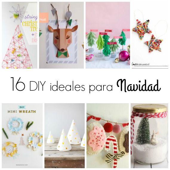 16 DIY con mucho estilo para esta Navidad Navidad, Manualidades
