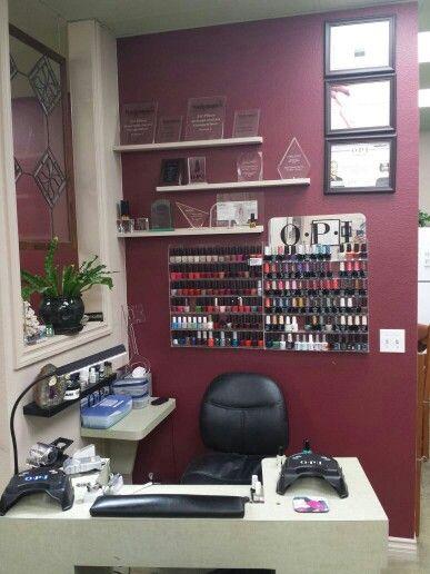 Nail Station Nail Technician Room Ideas Home Nail