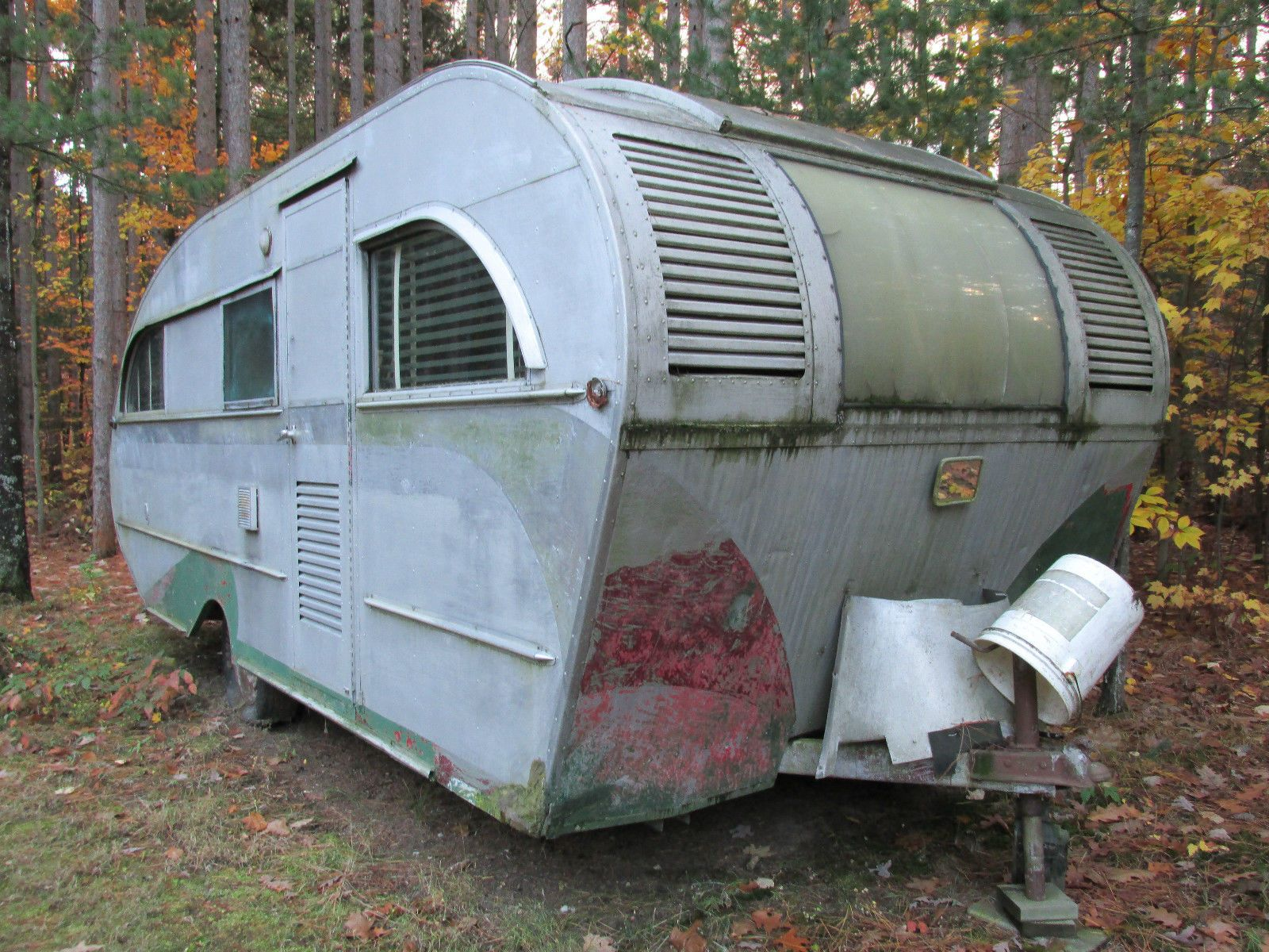 Rare Vintage 1947 Aeroflite Travel Trailer Ebay With Images