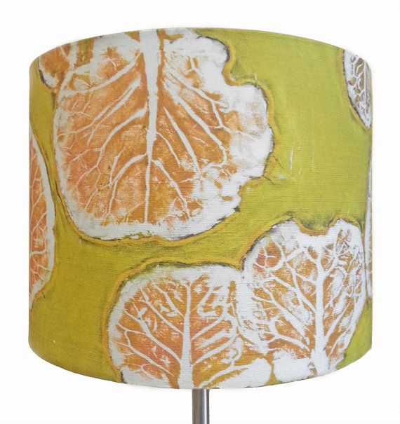 Linen drum lamp shade in olive amber gold yellow green brussels linen drum lamp shade in olive amber gold yellow green brussels sprouts artisan botanical lampshade made in maine aloadofball Images