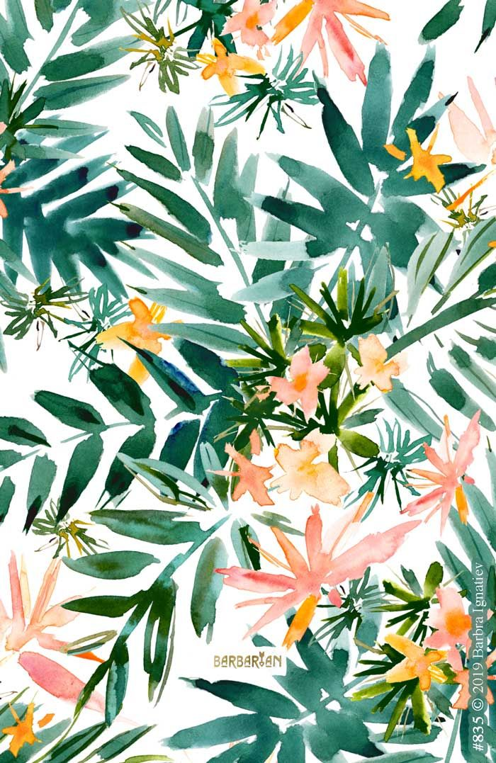 VACAY VIBES Tropical Palm – BARBARIAN by Barbra Ignatiev   Bold colorful art