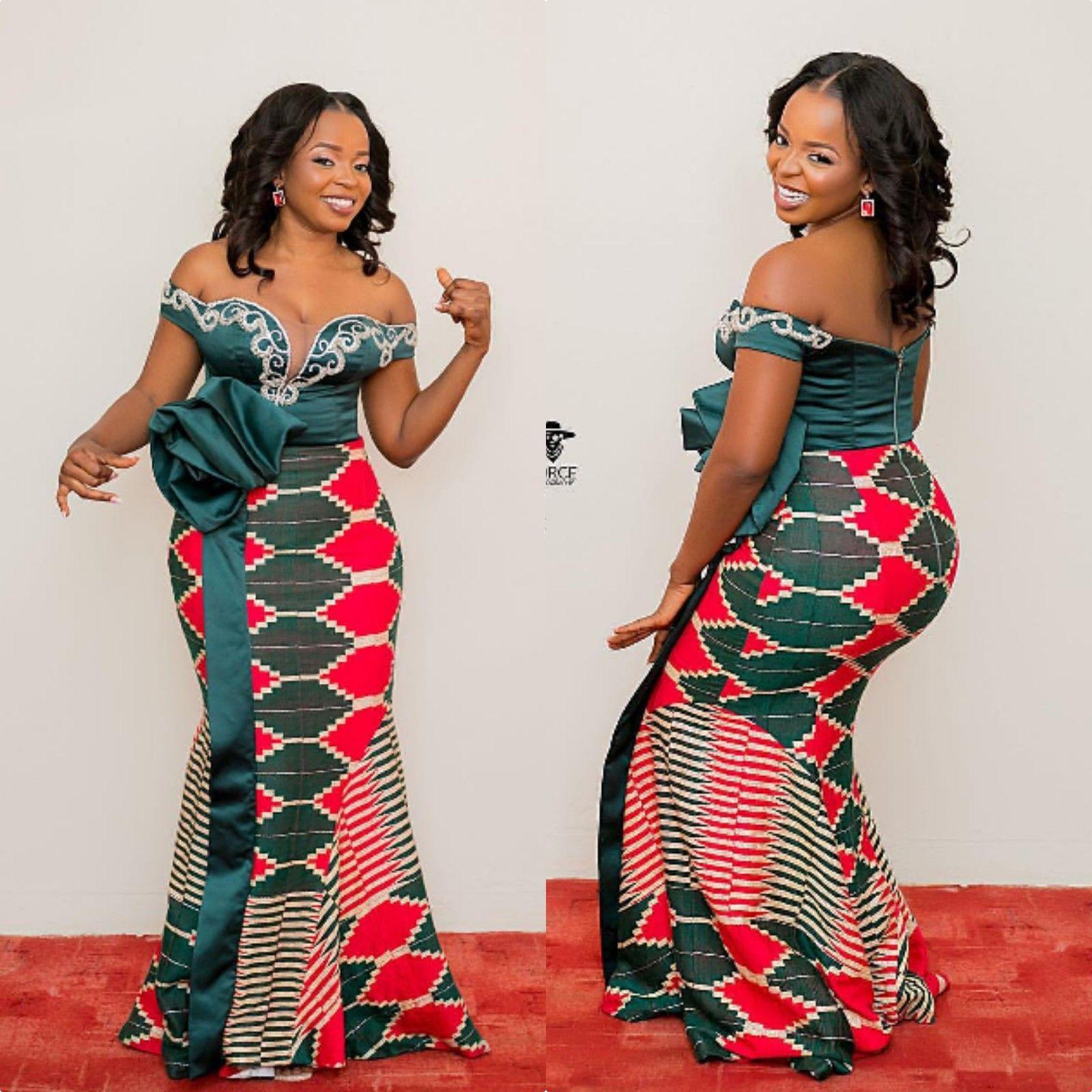 70 Latest Kente Styles For Engagements 2019 Fashenista Kente Styles Kente Dress African Wear Dresses