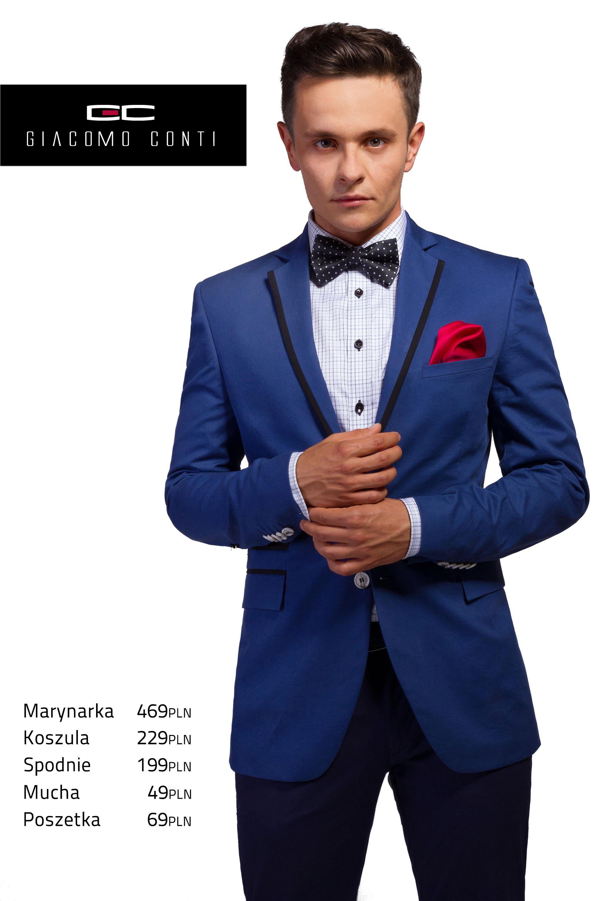 Wieczorowa Propozycja Giacomo Conti Z Niebieska Marynarka Antonio 13 19sm Z Czarnymi Wstawkami Giacomoconti Wedding Dress Suit Mens Fashion Suits Dress Suits