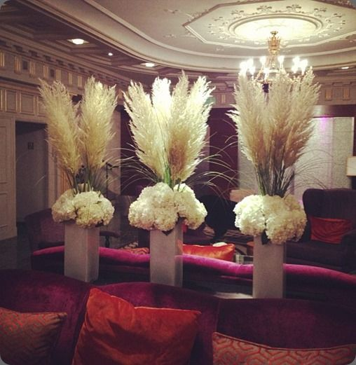 Pampas grass arrangment grasses